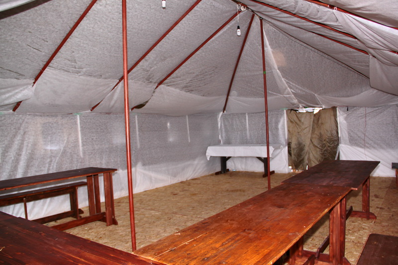 палатка армейская с мангалом