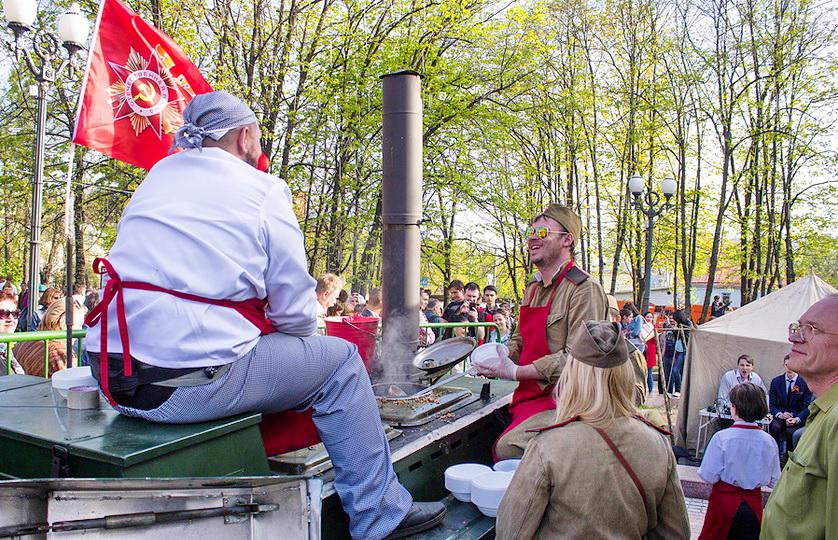 полевая кухня Москва 9 мая